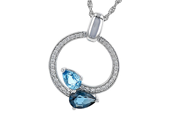 A244-70131: NECK 1.22 BLUE TOPAZ 1.40 TGW