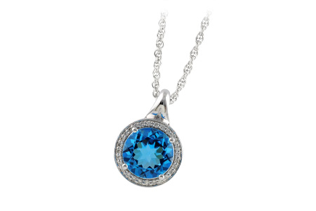 B241-93813: NECK 3.87 BLUE TOPAZ 4.01 TGW