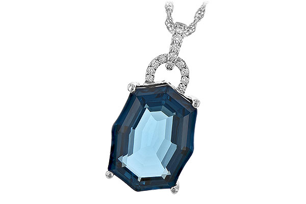 B243-81086: NECK 11.75 LONDON BLUE TOPAZ 11.85 TGW