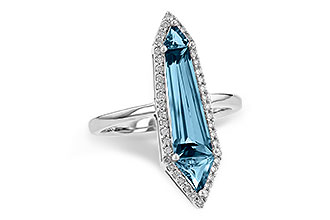 B244-64677: LDS RG 2.20 LONDON BLUE TOPAZ 2.41 TGW