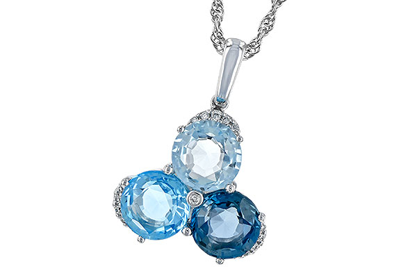 C243-73813: NECK 4.01 BLUE TOPAZ 4.06 TGW