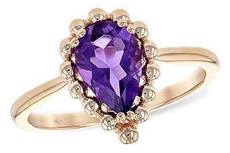 C243-76522: LDS RING 1.06 CT AMETHYST