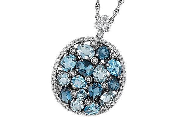D241-94713: NECK 3.12 BLUE TOPAZ 3.41 TGW