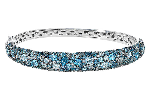 D244-66513: BANGLE 7.60 BLUE TOPAZ 7.85 TGW