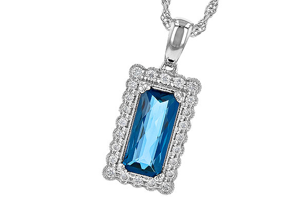 D244-71013: NECK 1.55 LONDON BLUE TOPAZ 1.70 TGW