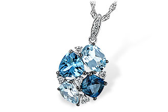 E243-73731: NECK 2.60 BLUE TOPAZ 2.70 TGW