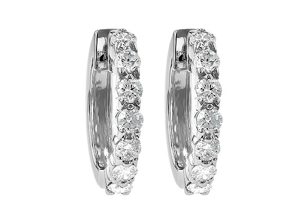 F055-57376: EARRINGS 1.00 CT TW