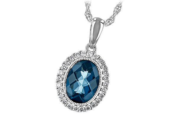F243-73740: NECK 1.28 LONDON BLUE TOPAZ 1.41 TGW