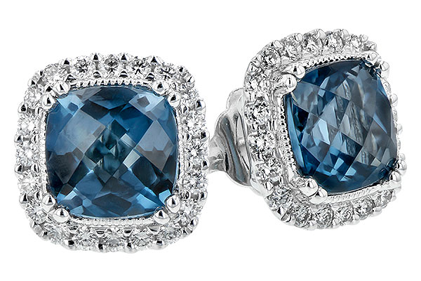F243-73749: EARR 2.14 LONDON BLUE TOPAZ 2.40 TGW
