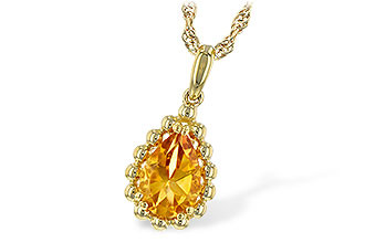 F243-76522: NECKLACE 1.06 CT CITRINE