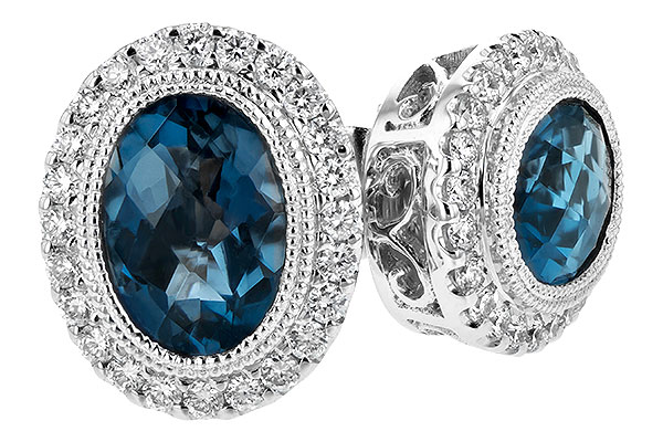 G243-73740: EARR 1.76 LONDON BLUE TOPAZ 2.01 TGW