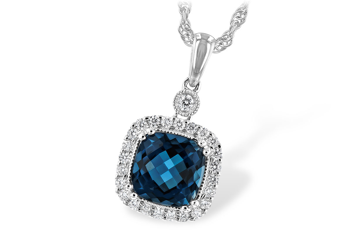 H243-73731: NECK 1.63 LONDON BLUE TOPAZ 1.80 TGW
