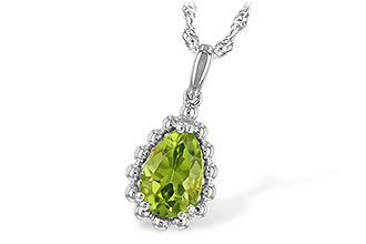 H243-76531: NECKLACE 1.30 CT PERIDOT