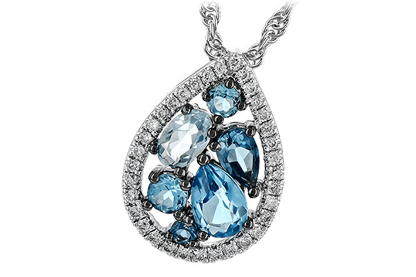 H243-79185: NECK 1.15 BLUE TOPAZ 1.30 TGW