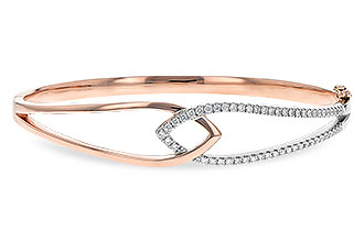 H243-80167: BANGLE BRACELET .50 TW (ROSE & WG)