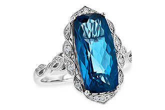 H244-64640: LDS RG 6.75 LONDON BLUE TOPAZ 6.90 TGW