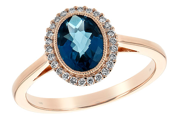 K243-73749: LDS RG 1.27 LONDON BLUE TOPAZ 1.42 TGW