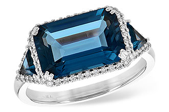 K244-65585: LDS RG 4.60 TW LONDON BLUE TOPAZ 4.82 TGW