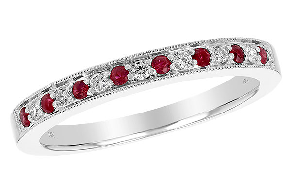 L238-32840: LDS RUBY/DIA WED RG .12 RUBY .21 TGW