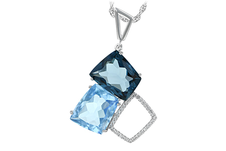 L242-88303: NECK 10.60 BLUE TOPAZ 10.73 TGW