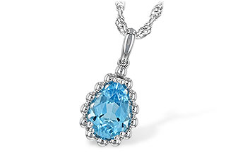 M243-76530: NECKLACE 1.55 CT BLUE TOPAZ