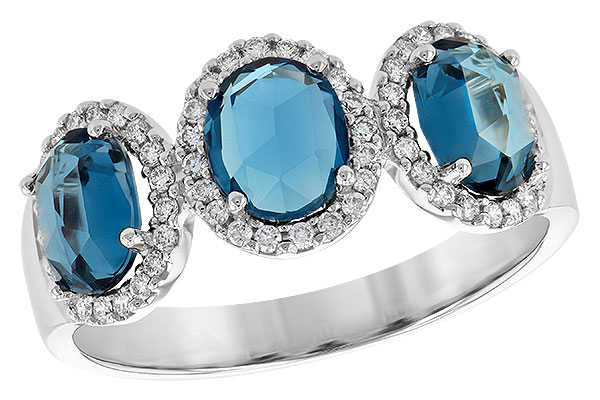 M244-63803: LDS RG 1.80 TW LONDON BLUE TOPAZ 2.02 TGW